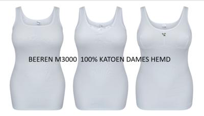 BEEREN DAMES HEMD 100% KATOEN